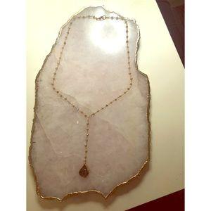 Authentic Druzy Lariat Necklace